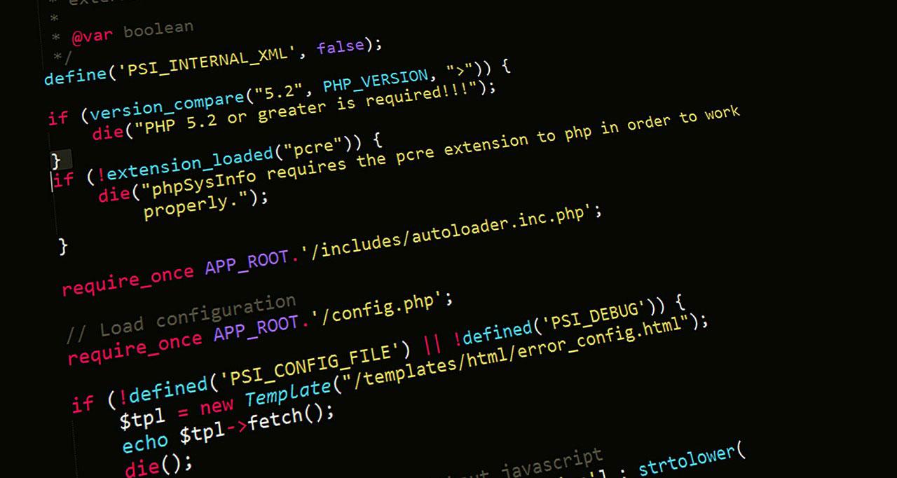 programming screen