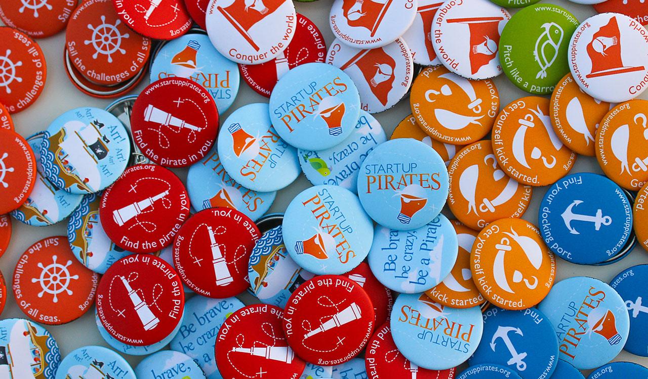 Startup Pirates Pins